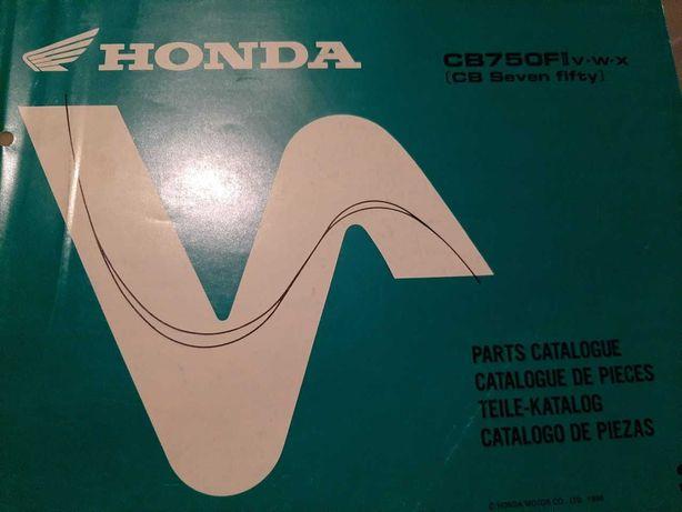 Honda CB750F Livro de pecas  1997-99
