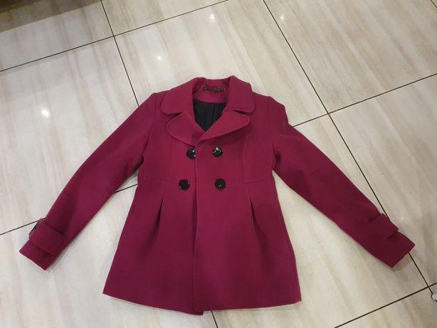 Płaszcz fuksja rozmiar 40