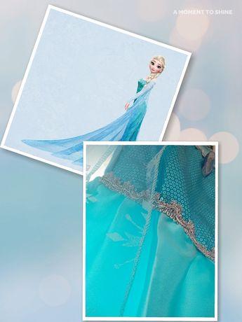 Criança | Vestido Princesa Elsa Frozen Aniversário Fantasia