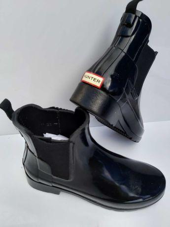 Nowe kalosze HUNTER czarne krótkie botki 36