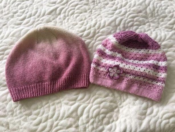 Zestaw 2 czapek na 116 na wiosnę lekkie i ciepłe rozmiar 54