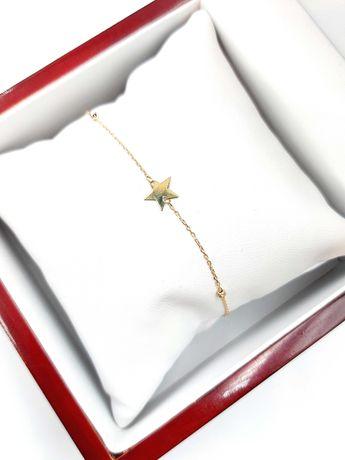 Złota bransoletka Pr. 585 Waga: 1,27 G Plus Lombard