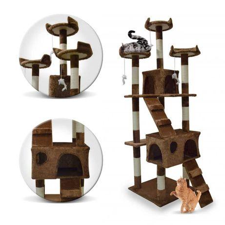 Drapak Legowisko Wieża dla Kota Kotów Brąz 170 cm 1043