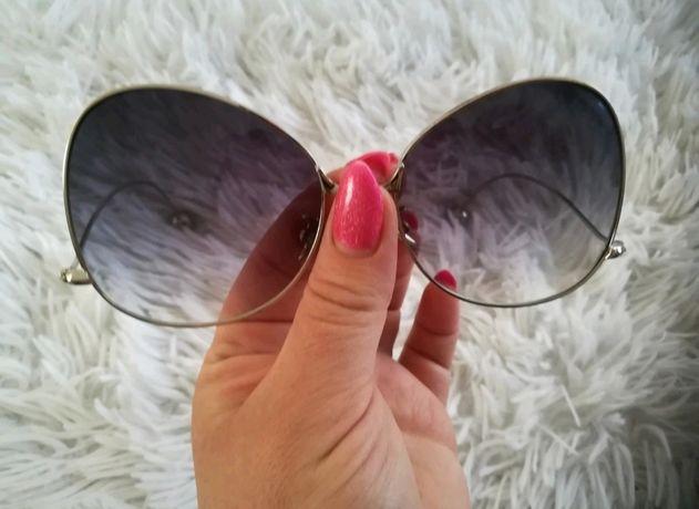 Designerskie duże okulary stylowe