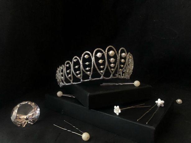 Диадема, корона, тиара для балета, для выступлений костюм, диадемка