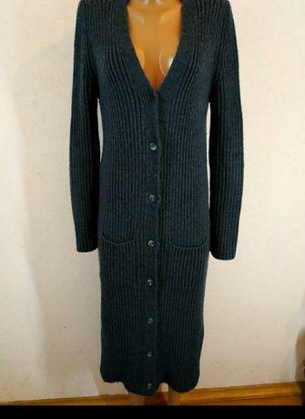 Кардиган вязаный, пальто, теплая длинная кофта. Размер 44,46, 48