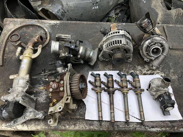 Форд Фокус C-Max 1,6 tdci розбирається форсунки насос ТНВД турбіна ЄГР