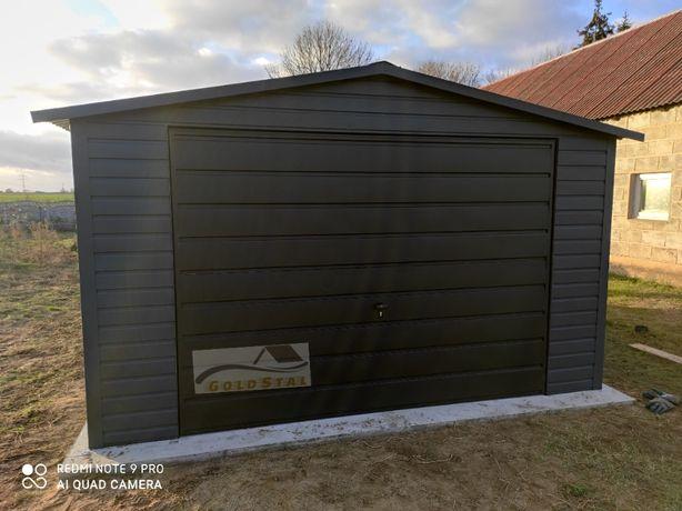 Garaż blaszany grafit/antracyt 4x6, 6x5, 6x6, 7x6, 4x5, 3x5, 9x6, 7x7