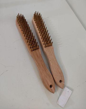 Escova de arame cabo madeira