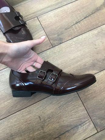 Шикарные ботинки туфли оксфорды броги 40 размер
