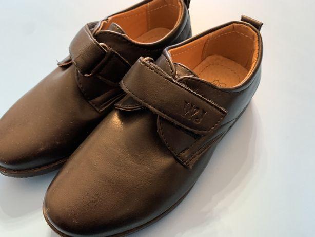 Buty lakierki garniturowe, chłopięce, dla dziexka