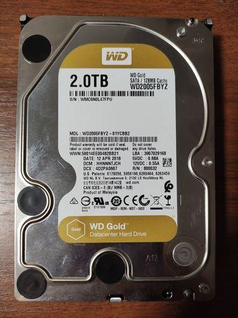 Жёсткий диск WD Gold 2Tb. Идеал.