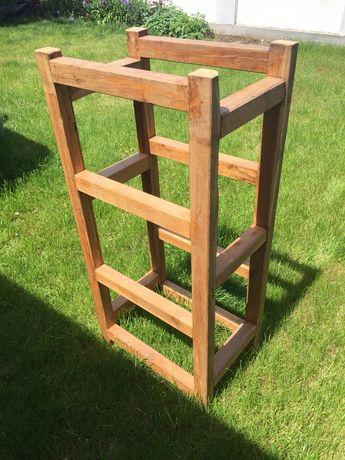 Stół drewniany do ogrodu, kwietnik, regał, półki na książki,
