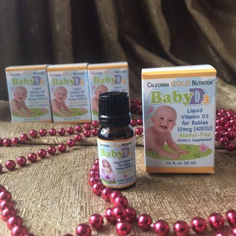 Витамин Д3/D3 для детей с iherb/айхерб california gold nutrition
