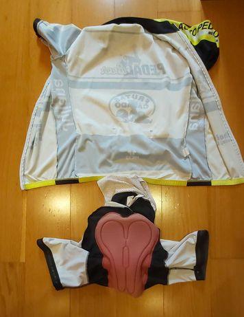Calções e equipamento ciclismo pacto M/L