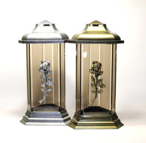 Znicz lampion komnata uno srebro/złoto max