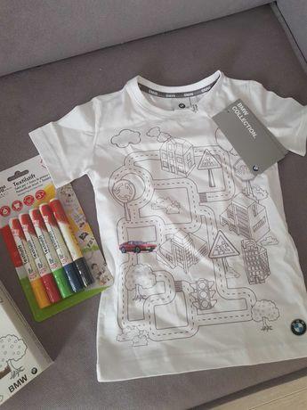 Koszulka BMW dla dzieci do kolorowania plus mazaki