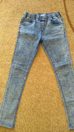 Spodnie getry jeans rozm.146