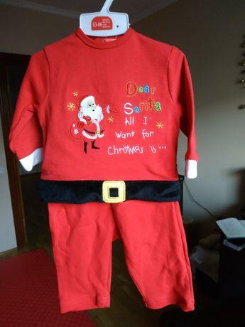 Детский новогодний костюм, красный, 3-6 месяцев, 62-68 см, хлопок