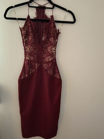 Sukienka dopasowana bordo