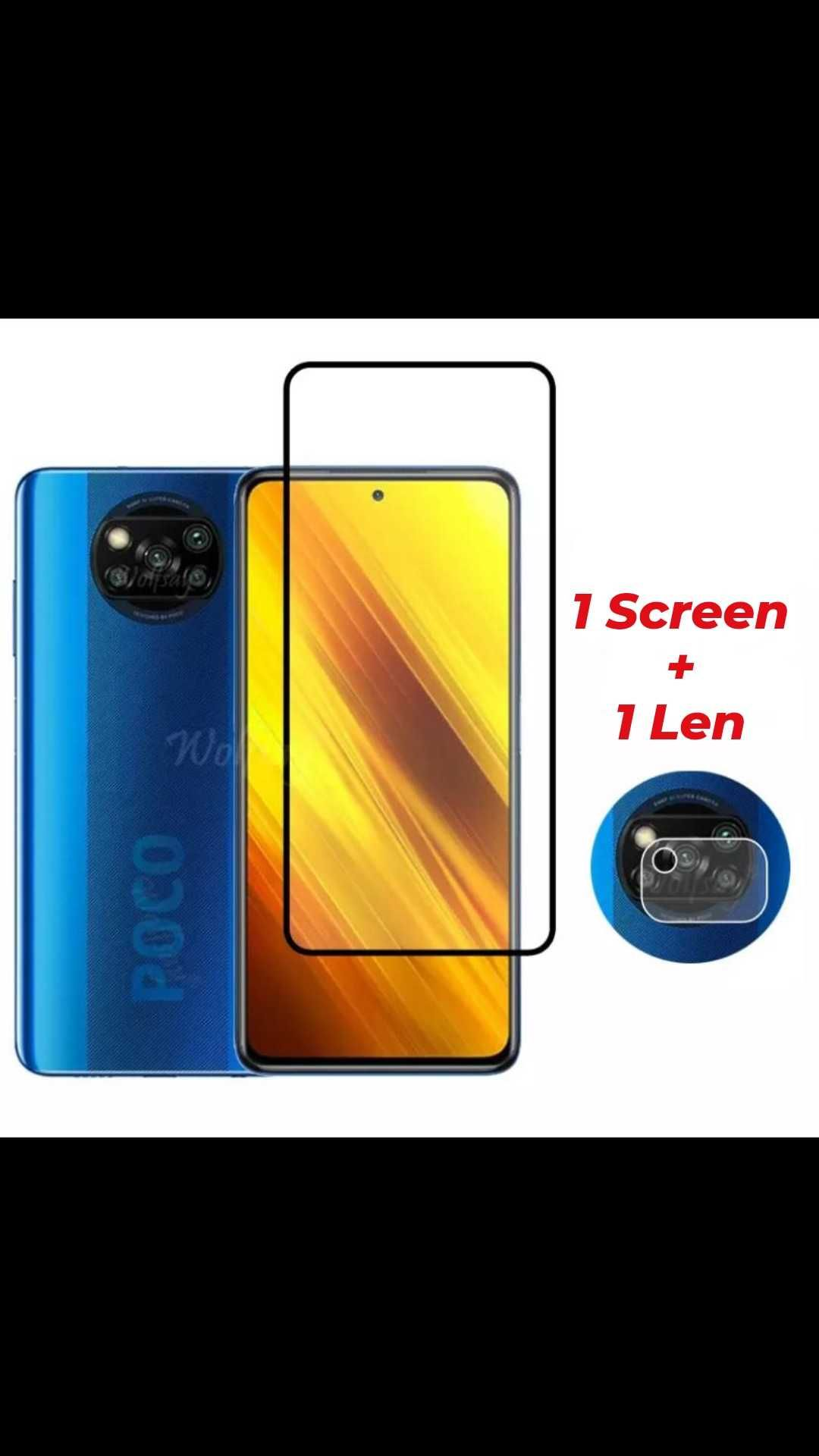 Xiaomi F3 POCO X3 NFC e PRO - Película vidro temperado Tela e Câmera