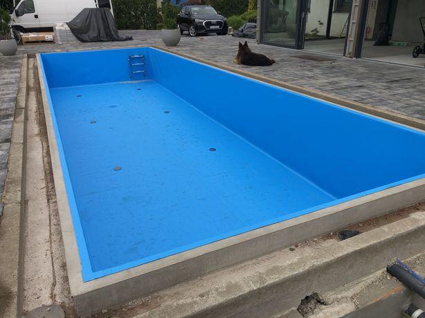 Folia basenowa PCV - montaż folii foliowanie basenów niecki basenowej