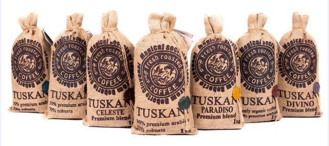 Уникальные смеси, неповторимый вкус! Кофе в зернах TUSKANI. Италия