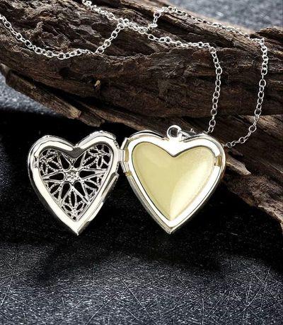 Кулон подвеска сердце светится в темноте открывается подарок Валентина