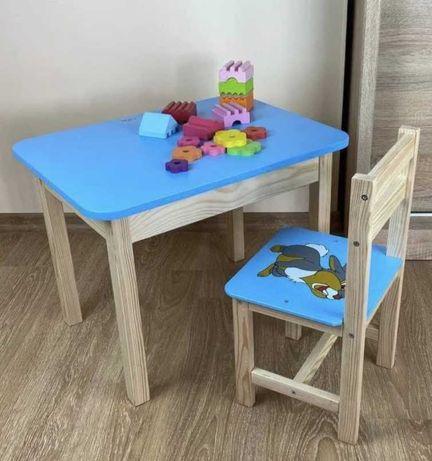 Парта детская стол с ящиком и стульчик дитячий столик стільчик