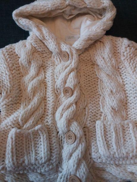 Gruby sweter dziewczęcy Next rozm. 104
