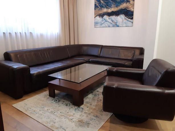 Komplet wypoczynkowy narożnik fotel stolik Agata