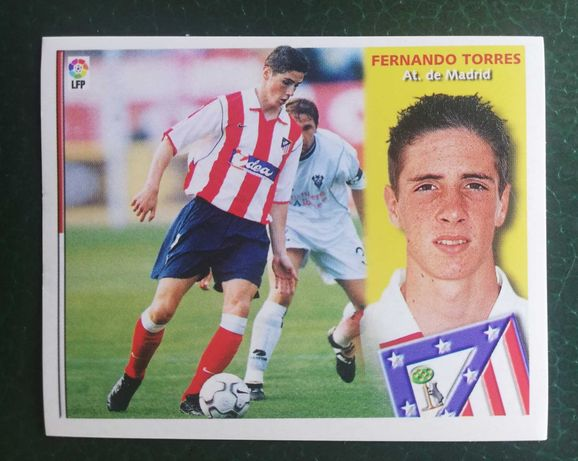 2002-03 Panini Colecciones Este FERNANDO TORRES Rookie Sticker RC