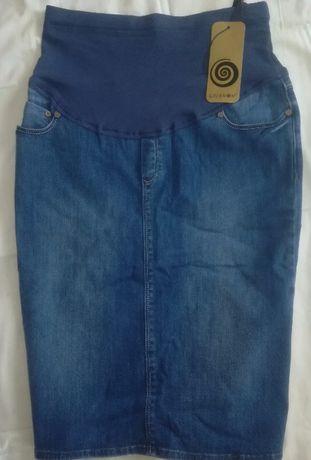 Джинсовая юбка для беременных НОВАЯ