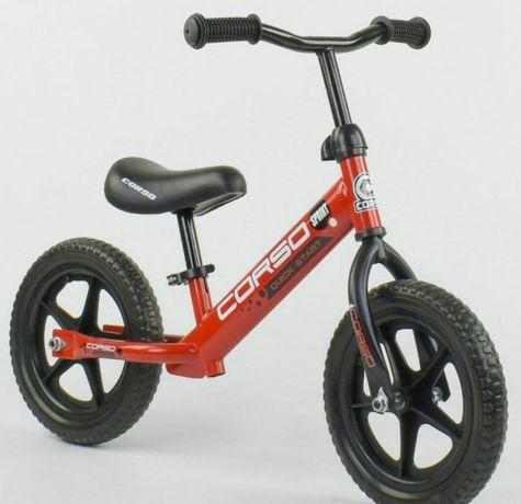 """Велосипед Беговел  Corso , стальная рама ,    колеса 12"""""""