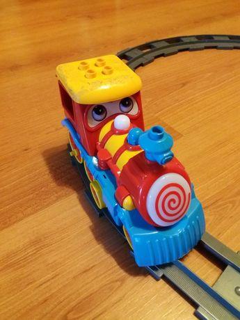 Паровозик Рельсы Лего дупло (аналог) железная дорога