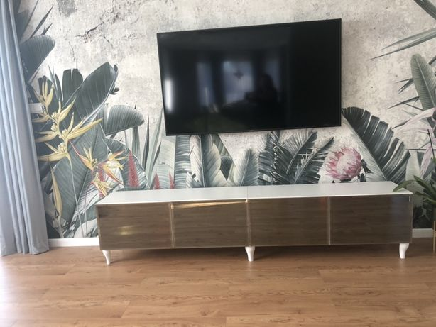 Szafka RTV glamour lustrzana 240 cm