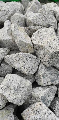 Kamień GABIONOWY łamany granitowy GRANIT jakość TONA
