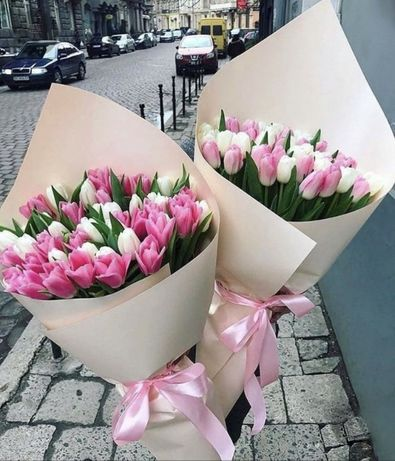 Лудчые букеты з тюльпанов к 8 марту