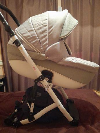 Универсальная коляска 2 в 1 Adamex Avanti Deluxe X7 Светло-серая