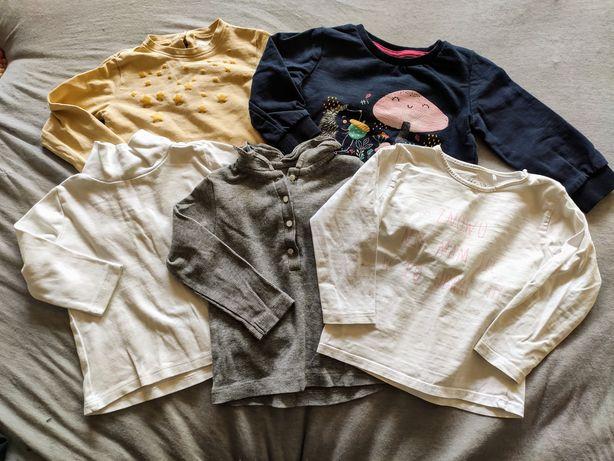 5 szt bluzeczek dla dziewczynki r 74