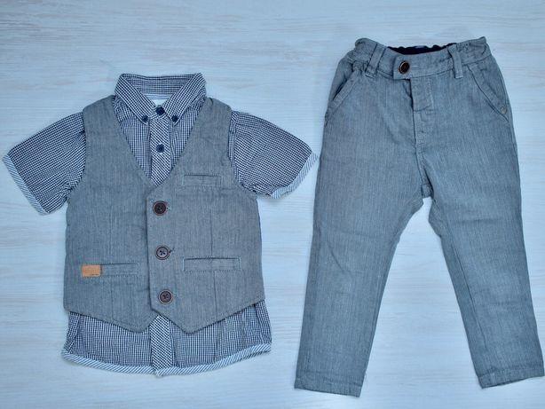 Костюм NEXT детский мальчик нарядный тройка жилетка размер 80-92