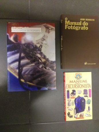 Livros / manuais fotografia, excursão, desporto
