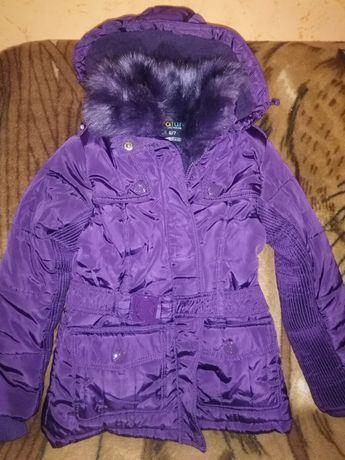 куртка теплая NATURE Новая (Венгрия) на флисе р.122 на 6-7 лет