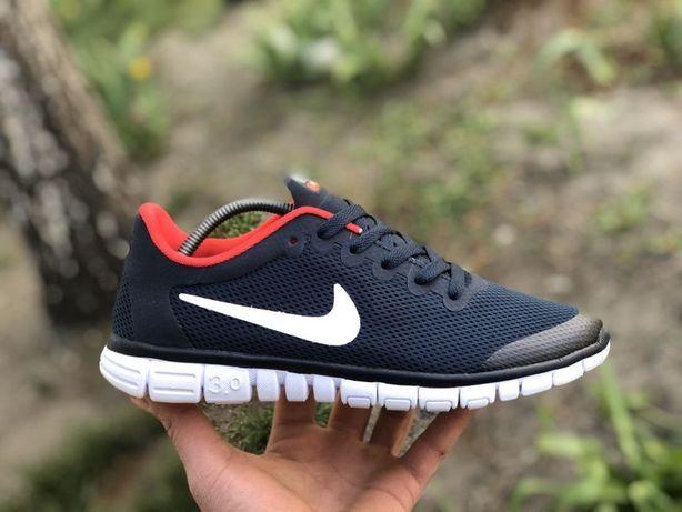 Акция!Мужские кроссовки Nike Free Run,синие,для бега,сетка,найк фри
