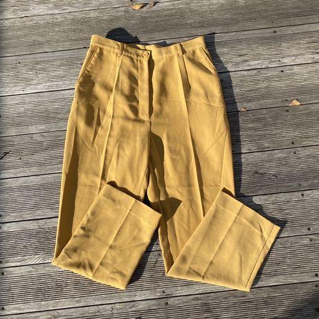 miodowe spodnie materialowe