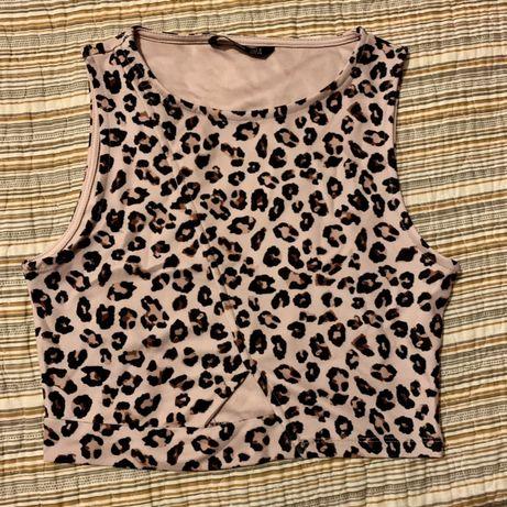 Top padrão leopardo stradivarius