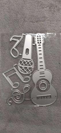 Gitara,mikrofon,nuty Wykrojniki scrapbooking