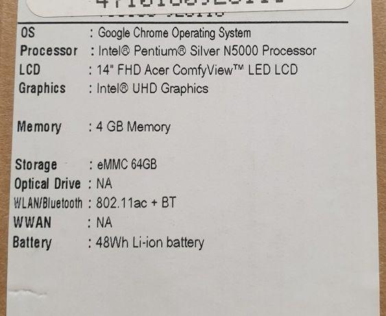 Acer Chromebook 314  CB314-1H-P43Q jak nowy gwarancja Łódź