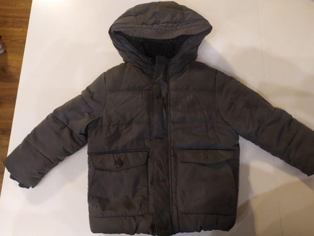 ZARA kurtka zimowa szara bardzo ciepła rozmiar 104