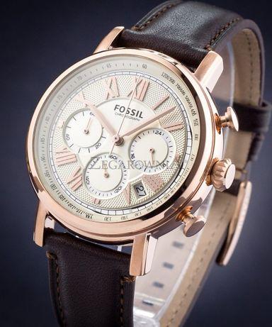 Zegarek męski Fossil Buchanan--skóra 100%,brązowy ,złoty z USA